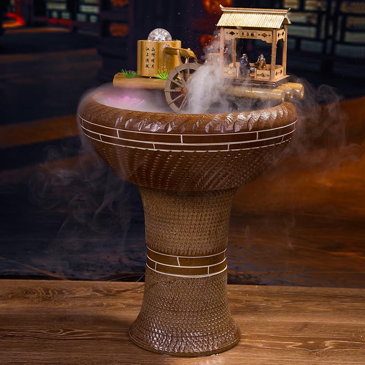 planta de agua de feng shui adornos muebles para el hogar de cermica redondo fuente waterscape