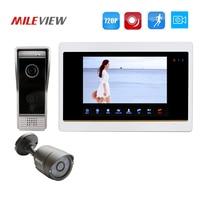 Free Shipping 1 0MP 720P AHD Motion Detection 7 Video Intercom Door Phone System Record Monitor