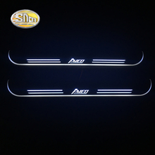 SNCN LED door sill for Chevrolet Aveo Led moving lights scuff plate welcome light Welcome pedal