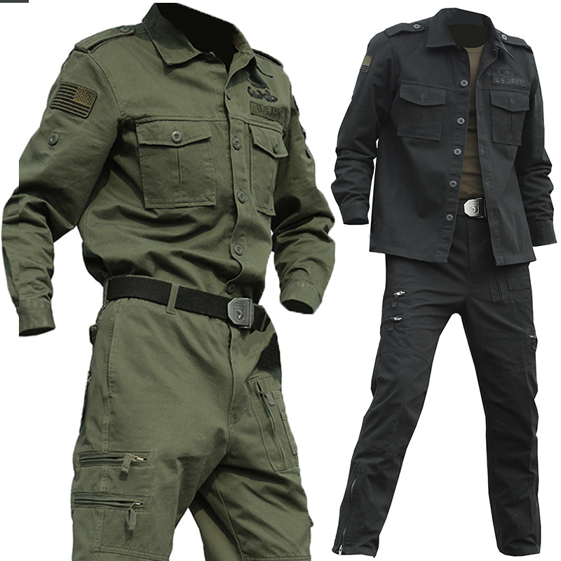 Mens Special Forces US Army 101 Airborne Suit Sets Tactical Militar Crossfit Bomber Airsoft Uniform  Combat Clothes Sets