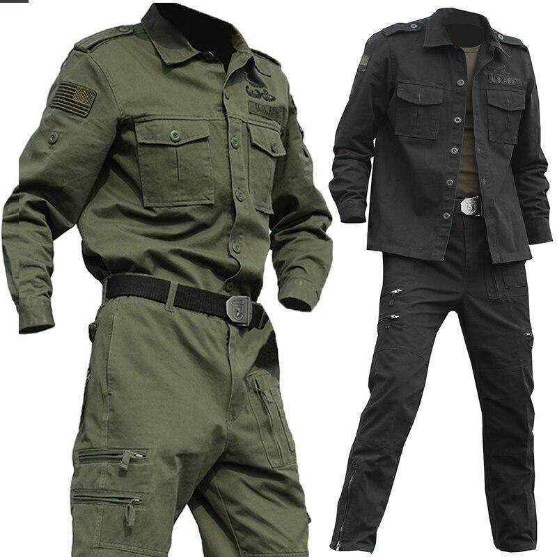 Mens Special Forces US Army 101 Airborne Suit Sets Tactical Militar Crossfit Bomber Airsoft Uniform  Combat Clothes Sets