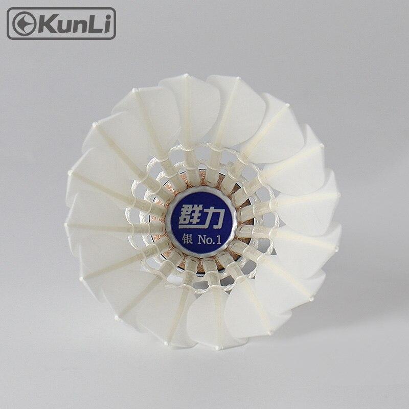 Kunli badminton shuttlecocks KL-Silver Toppbetyg Cigu - Sport racketar - Foto 2