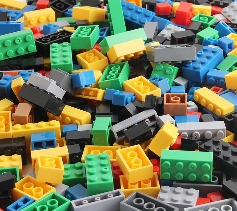 mylb 1000pcs Random Bricks Building Blocks City DIY Creative Educational Toys For Children designer lcd мини auto range ac dc карманный цифровой мультиметр вольтметр тестер инструмент
