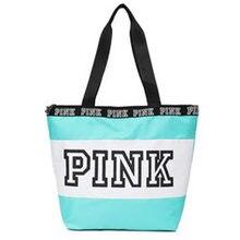37527e460 Nuevo amor Rosa chica playa hombro de gran capacidad bolsas de viaje bolso  mujeres viajan bolsos
