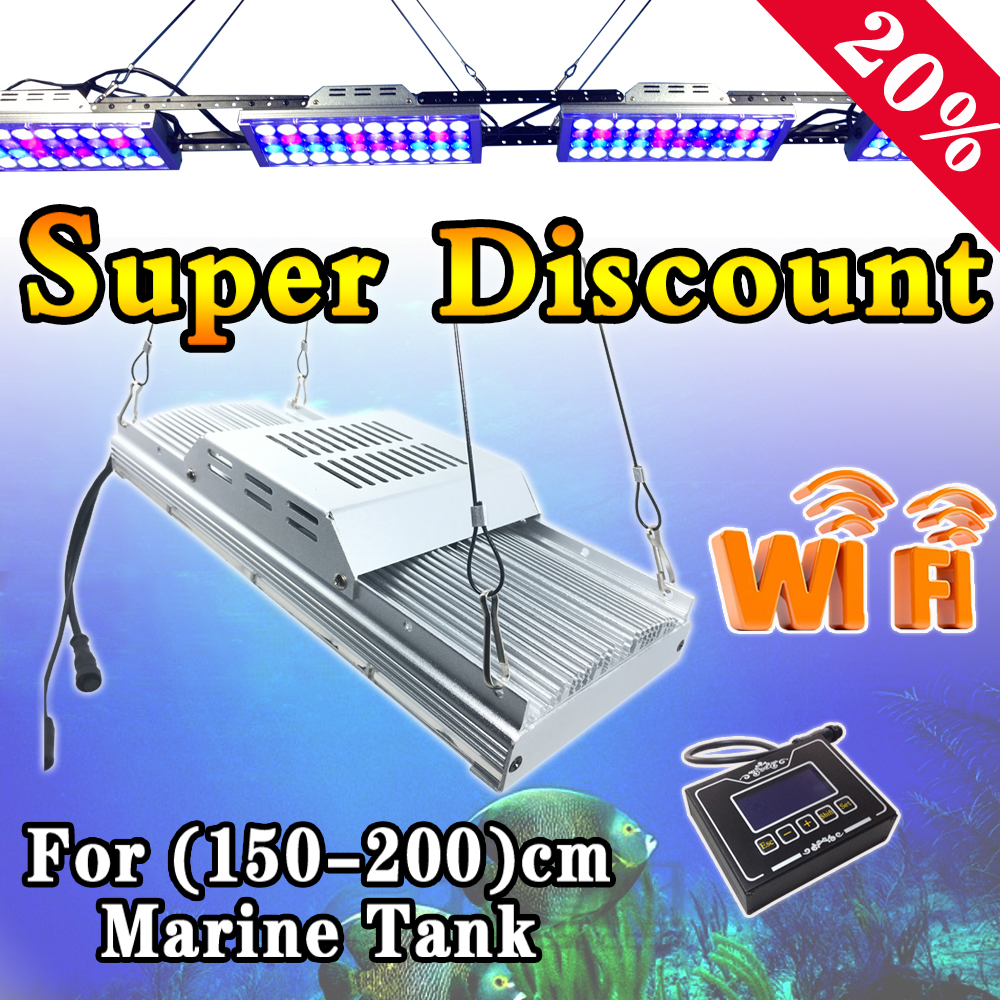 buy 72 200cm 6ft led aquarium light for sps lps coral reef full spectrum. Black Bedroom Furniture Sets. Home Design Ideas