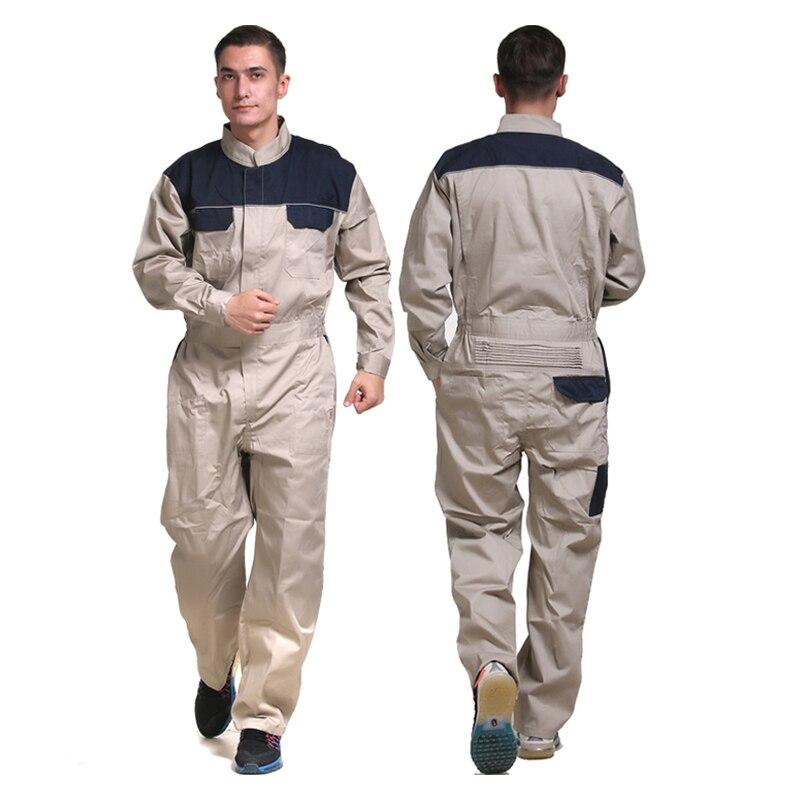 Men's 100% Cotton Coverall Workwear Suit Mining Work Wear Overalls  Mechanic Carpenter Repairman  Auto Repair Electric Welding