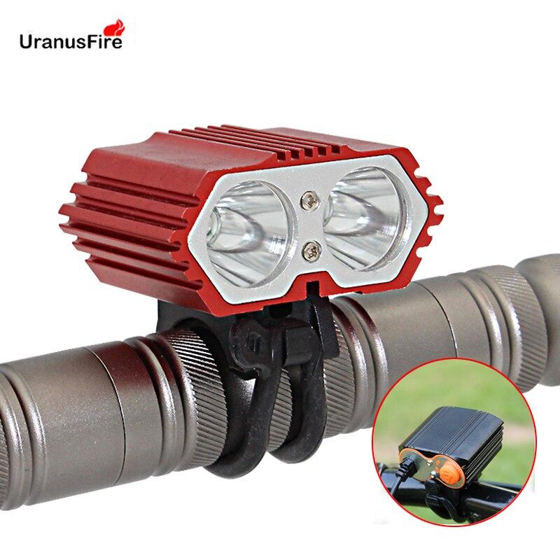 Uranusfire 2-in-1 Fahrrad Licht 2300 Lumen Fahrrad Front Licht Scheinwerfer Scheinwerfer Usb Charing T6 Led Fahrrad Licht Lampe Für Radfahren Scheinwerfer