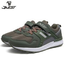 QWEST бренд Арка кожаные стельки Лето Hook & Loop плоские детская обувь Размеры 32-38 дети сандалии для девочки 91K-NQ-1337