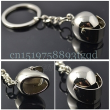 3D Helmet Keychain Motorcycle Car Motor Bicycle Key Fob Chain Ring Keyring#T518#