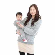 Yejia Fashion Mother Son Outfits Cartoon Print Big Eyes Casual Matching Family Sweaters Casual Family Sweatershirt