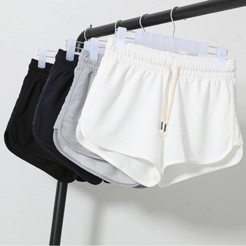 micro mini shorts fitness feminino Drawstring white athletic short deportivos femme Elastic Regular shorts women