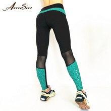 fc7de8548e AmeSin 2019 High Quality Out Pocket Custom Logo Stretch Laddies Sportwear  Yoga Exercise Pants Leggings Workout