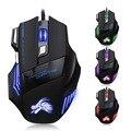 De alta Calidad Profesional Wired Gaming Mouse 7 Botones 5500 DPI LED Cable USB Juego de Ordenador Con Cable Ratón Óptico Del Ratón