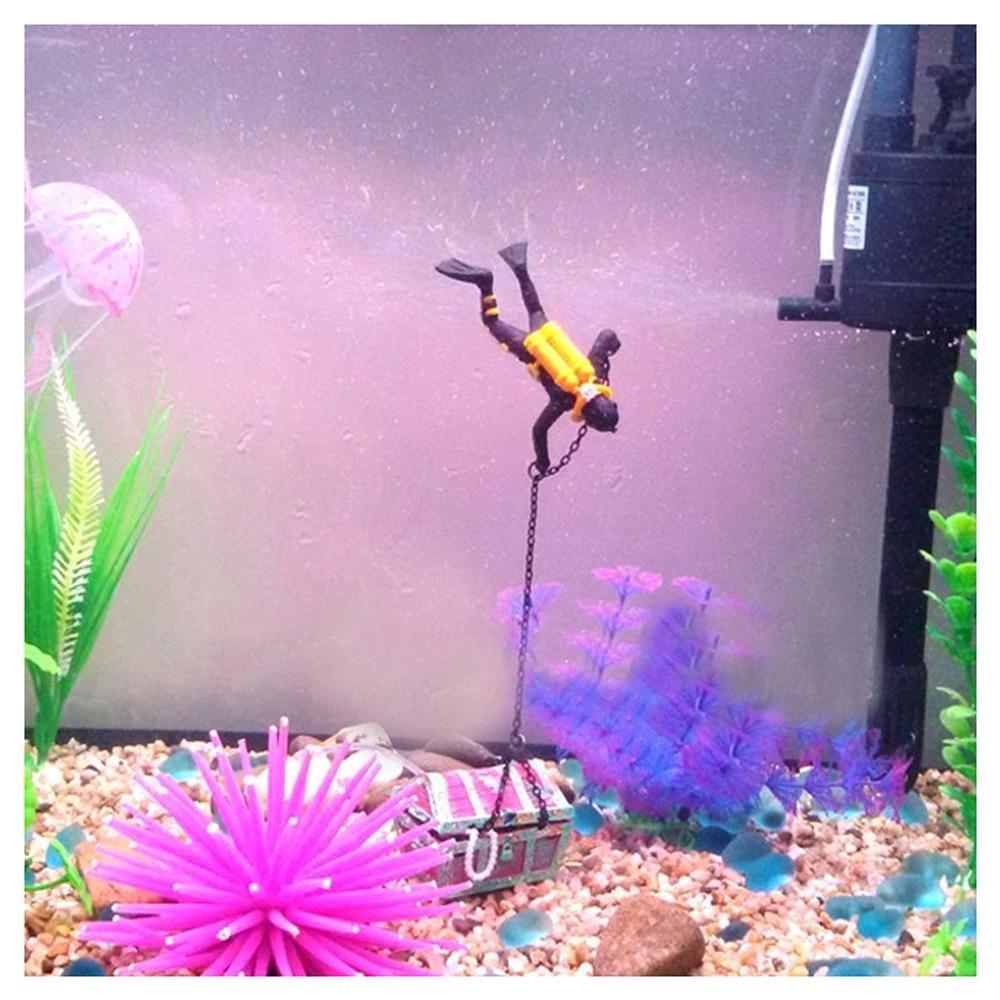 Treasure treasure hunter diver decoration for aquarium for Aquarium diver decoration