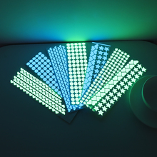 Wall-Stickers Fluorescent-Decals Rooms-Decoration Stars Hearts-Dots Glow-In-Dark Luminous
