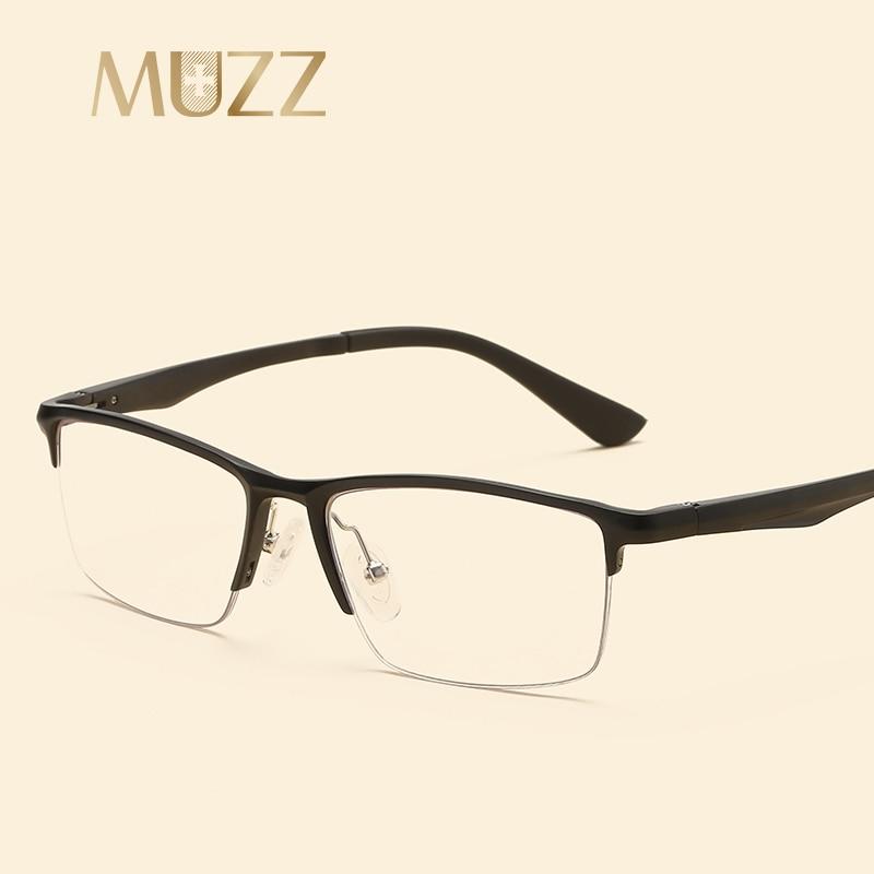 Muzz Männer Brille brown Optical 13g Myopie silber Versand Super Licht Kostenloser Schwarzes Aluminium rwXxIqrHf