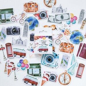 شخص واحد السفر الزخرفية ملصقات ملصقات بمادة لاصقة DIY الديكور مذكرات القرطاسية ملصقات الأطفال هدية