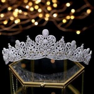 Image 3 - Asnora coroa דה noiva גבישי חתונה מצנפות כלה כתרים כלה שיער אביזרי נזר nupcial