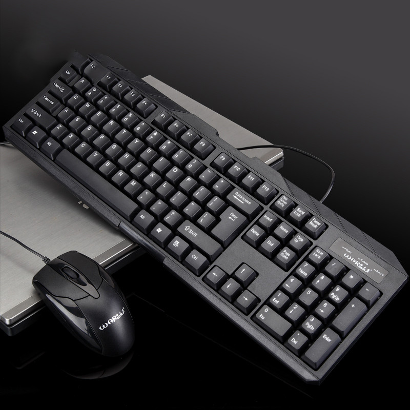 Computer Gaming Keyboard Teclado USB Wired 104 Keys Keyboard Mouse Set Suit Waterproof Keyboard+1000DPI Gaming Mouse #A