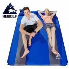 Hewolf Camping Mat Double Persons Automatic Inflatable Mattress Widening Dampproof Splicing Sleeping Mat Outdoor Tent Mattress