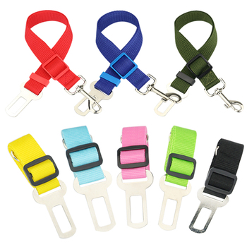 Car Pet Dog Seat Belt Puppy Seatbelt Harness for Vehicle Safety Lever Auto Traction 2
