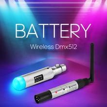 Dmx Licht Wirkung Batterie Drahtlose 2,4 GISM 500m Dmx512 Empfänger Sender Abstand Kommunikation Empfänger Musik DJ Club Disco