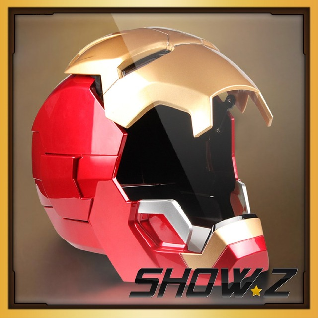 ROAN Iron Man Wearable ABS 1:1 Full Scale Helmet Mark42 MK42 MK43 Mask Replica with LED Light