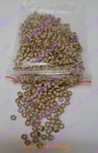 1000pcs pack Dark blonde silicone micro nano bead with silicone line for Nano Hair Extensions tool