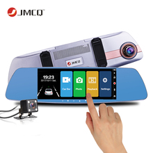 7 Inch Touch Screen Car DVR Dual Lens Camera Rearview Mirror Video Recorder Dash Cam Auto Camera Portable Recorder Night Vision bigbigroad for mazda cx5 cx 5 2 3 6 323 cx7 cx 7 car dvr rearview mirror video recorder dual camera 5 inch ips screen dash cam