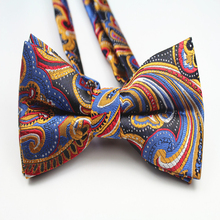 Fashion Formal Commercial Bowtie Business Polyester Jacquard Men's Bow Tie for Men Clothing and Accessories Male Wedding Bow Tie stylish stars and stripes pattern bow tie for men