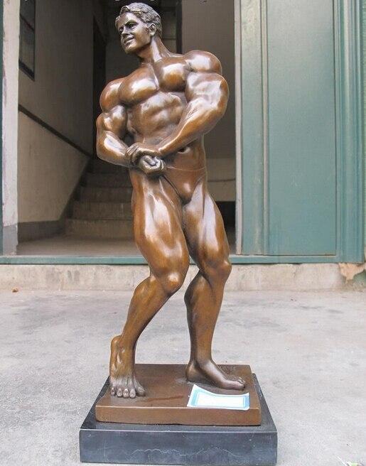 Western 100% Bronze statue Art Muscle homme Culturiste Classique Sculpture cadeau arts artisanatWestern 100% Bronze statue Art Muscle homme Culturiste Classique Sculpture cadeau arts artisanat