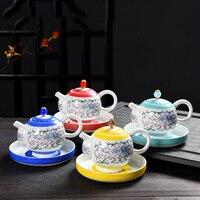 High Quality White Porcelain Enamel Teapot Chinese Kung Fu Tea Set Puer Pot Coffee Pot Convenient