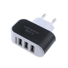 Universal Fashion 3.1A Triple Usb Port Wall Home Travel Ac Charger Adapter For Samsung Eu / Us Plug For Iphone X 8 7 Plus 6S 6