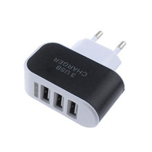 Universal Fashion 3.1A Triple Usb Port Wall Home Travel Ac Charger Adapter For Samsung Eu / Us Plug For Iphone X 8 7 Plus 6S 6(China)
