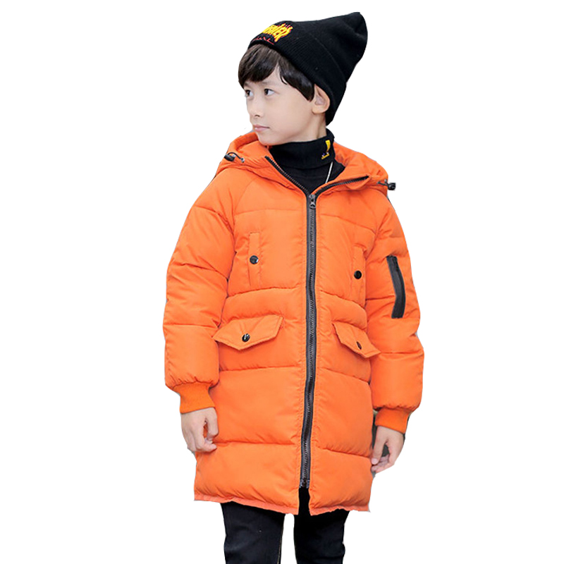 Big Kids Winter Jackets For Boys Warm Clothes Cotton-Padded Parka Thick Hooded Coats Boys Children Outerwear 3 5 7 9 11 13 Years baby boys winter coats jacket children hooded outerwear kids warm cotton padded clothes infant parkas