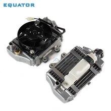 Xmotos apollo части кулер с водяным охлаждением охлаждающий блок радиатора двигателя с вентилятором для zongshen loncin lifan 150cc 200cc 250cc двигатель