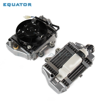 xmotos apollo parts water cooled cooler cooling engine radiator box with fan for zongshen loncin lifan 150cc 200cc 250cc engine