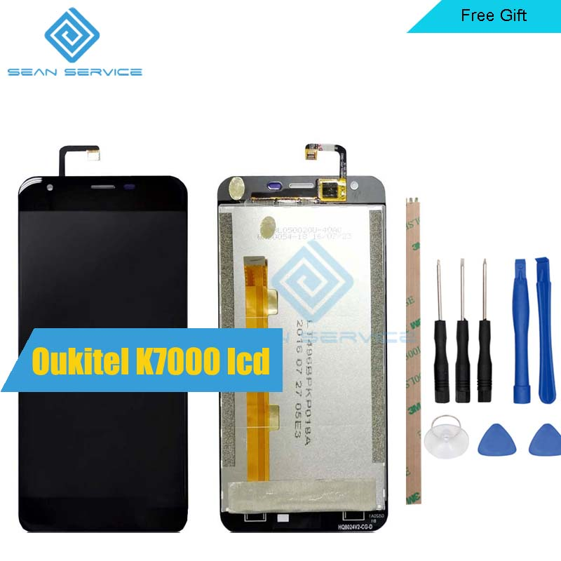 5.0inch For Original <font><b>Oukitel</b></font> <font><b>K7000</b></font> Display+Touch Screen Digitizer Assembly Replacement 1280X720P Stock image