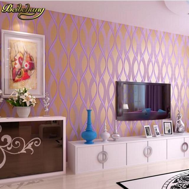 Online Shop beibehang Girl bedroom wallpaper for walls 3 d purple ...