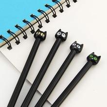 Гелевая черная кошка kawaii корейский творческий школьные симпатичные принадлежности канцелярские ручка