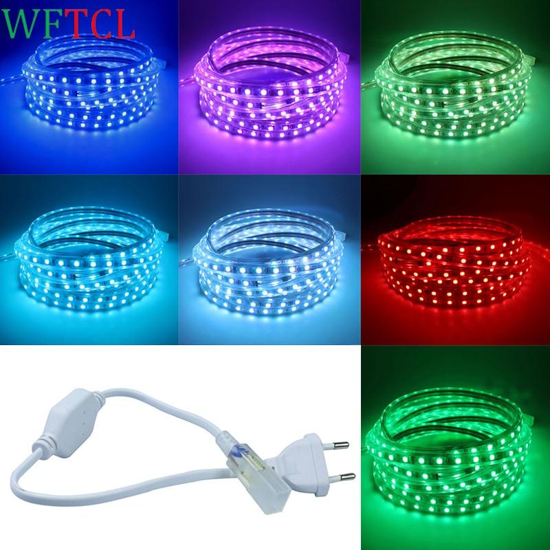 5050 LED Rope Light Waterproof EU/US Plug LED tape Light 1M, 5M, 10M 15M White, Warm White RGB Red, Blue, Green LED strip lights
