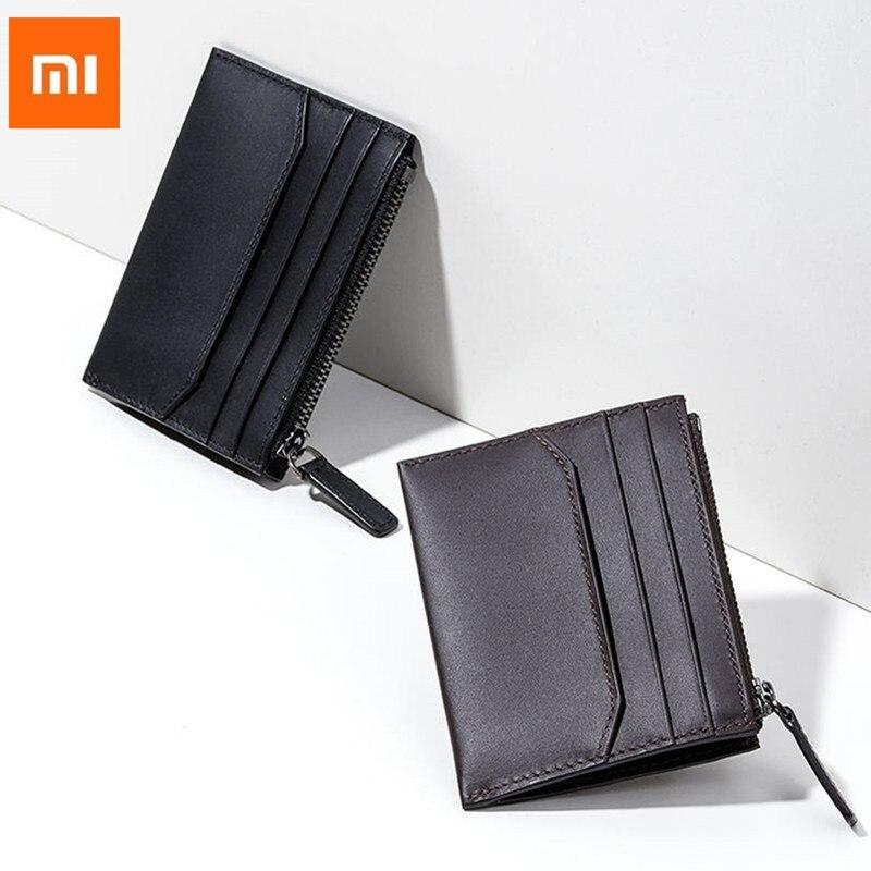 Xiaomi 90 Fun Wallet Cow hide Purse Stylish Business Wallet for Credit Card ID License Clutch Purse Pocket Money Mi Purse H30 wallet