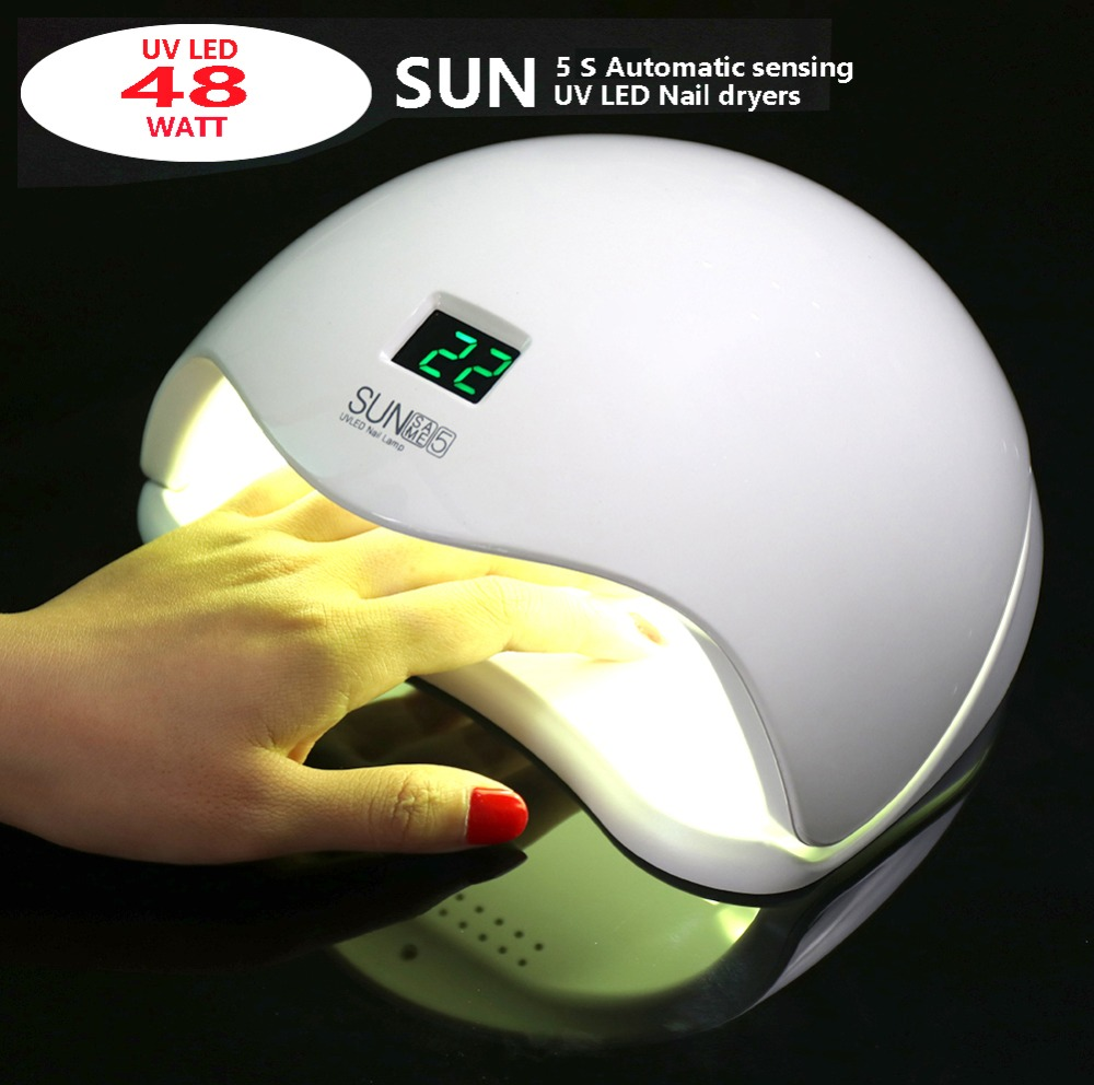 PRO 2 IN 1 SUN5S 48W/24W UV LED nail lamp high quality intelligent induction LED nail dryers  nail gel drying lampPRO 2 IN 1 SUN5S 48W/24W UV LED nail lamp high quality intelligent induction LED nail dryers  nail gel drying lamp