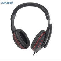 Ouhaobin Popular New USB Wired Stereo Micphone Gaming Headphone For Sony PS3 PS4 PC Gaming Headphones