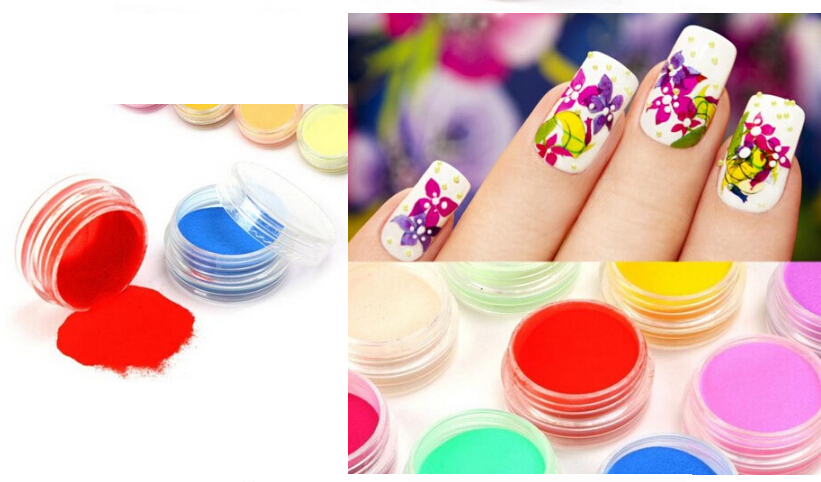 BEMLP 12 colors set 3g Flocking Powder Acryli velvet manicure nail polish crystal bk bk 00 flocking velvet manicure art polish nail powder peru