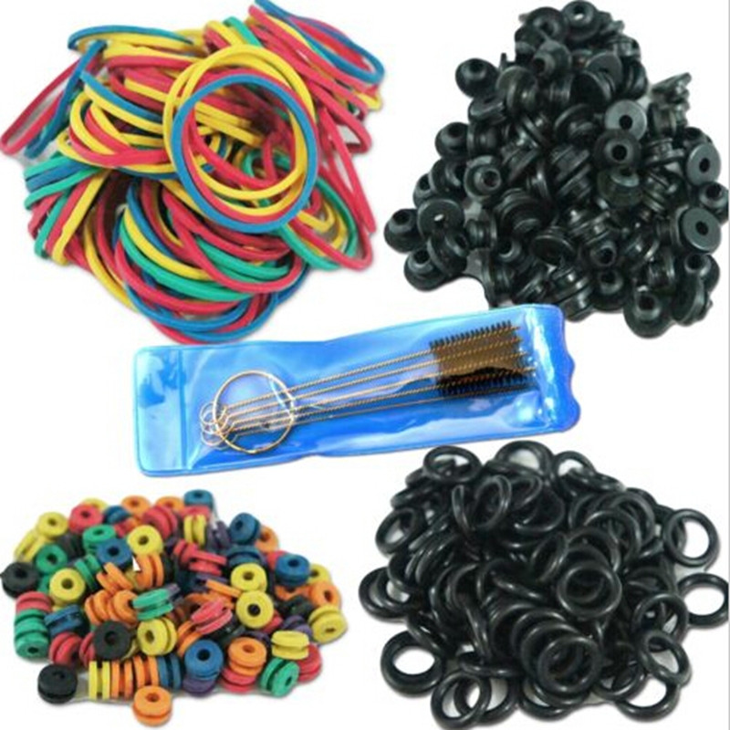 Hot Selling Tattoo Accessories Tattoo Supplies Rubber + O-Rings A-bar Grommet Nipple Bands Machine Cleaning Brush Free Shipping