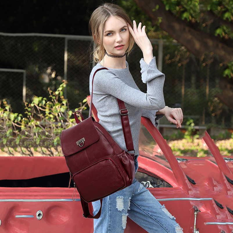 Рюкзак Nevenka из натуральной кожи, женский рюкзак с защитой от кражи, женский рюкзак для путешествий, рюкзак Mochila, школьные сумки для девочек