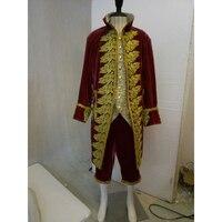 Косплэй diy викторианской элегантный готический аристократ Косплэй костюм для взрослых мужские фантазии вечерние Хэллоуин костюм L320