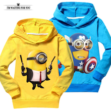 Minions t shirt top quality baby girl clothes despicable me children clothing costume boys t-shirts casual sweatshirts unisex