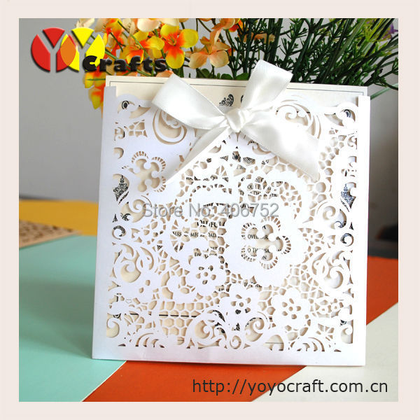 100sets/lot Wish Card New Year cards Greeting Card Envelopes laser ...